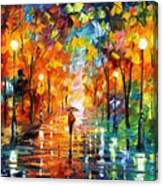 Night Mood In The Park Canvas Print