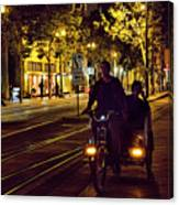 Night Moods Streets Of San Jose   Canvas Print
