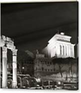 Night Panorama In Rome Canvas Print