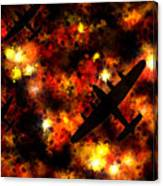 Night Raid - Lancaster Bomber Canvas Print