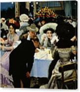 Night Restaurant Canvas Print