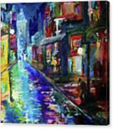 Night Scene In The Big Easy Canvas Print