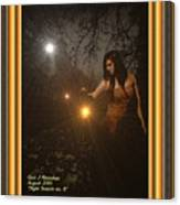 Night Search No. 8 H A With Decorative Ornate Printed Frame Canvas Print