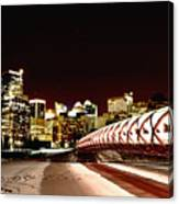 Night Shots Calgary Alberta Canada Canvas Print