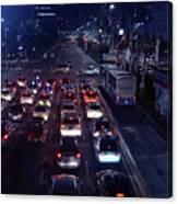 Night Skyline Of Jakarta Indonesia 2 Canvas Print
