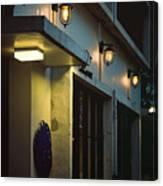 Night Street Cafe Canvas Print