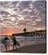 Night Surfing Canvas Print