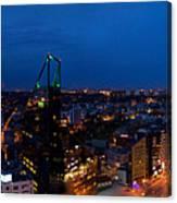 Night Tallinn City Line Panorama Canvas Print