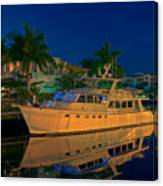 Night Time In Fort Lauderdale Canvas Print
