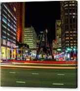Night Time In The D Canvas Print