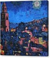 Night Time View Of Cork City Canvas Print
