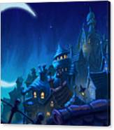 Night Town Canvas Print