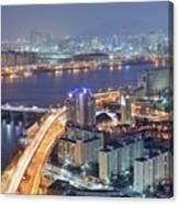 Night View Of Seoul Canvas Print