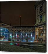 Night View Of Smithfield Market In North London Canvas Print