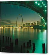 Night View Of St. Louis, Mo Canvas Print
