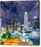 Night View Scenes Around Charlotte North Carolina Canvas Print