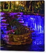 Night Water Fall  Canvas Print