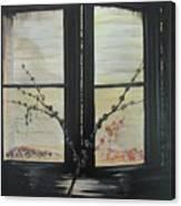 Night Window Canvas Print