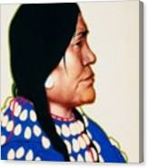 Night Woman, A Blackfeet Of Montana Canvas Print