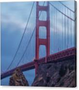 Nightfall Over Golden Gate Canvas Print