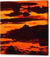 Nightfall Silhouettes Canvas Print