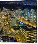 Nightlife On The Other End Of Robson Street Canvas Print