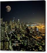 Nightlights Seattle Washington  Canvas Print