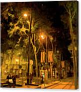 Nights San Jose Downtown  Canvas Print
