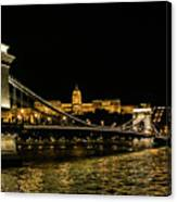 Nightscape On The Danube Canvas Print