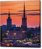 Nightsky Over Stockholm Canvas Print