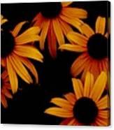 Nighttime Flowers Canvas Print