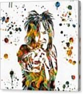 Nikki Sixx Paint Splatter Canvas Print