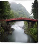 Nikko Shin-kyo Bridge Canvas Print