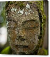 Nikko Stone Carved Face 2 Canvas Print