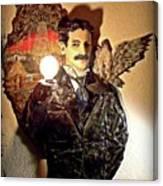 Nikola Tesla At Wardenclyffe Canvas Print