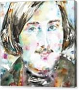 Nikolai Gogol - Watercolor Portrait Canvas Print
