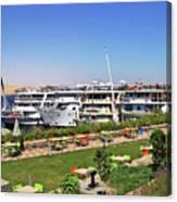 Nile Cruise Ships Aswan Canvas Print