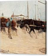 Nils Kreuger,   From The Dutch Coast. Canvas Print