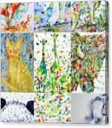 Nine Animals - Version 1 Canvas Print