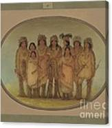 Nine Ojibbeway Indians In London Canvas Print
