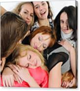 Nine Young Women Canvas Print