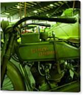 Nineteen Eighteen Harley Davidson Canvas Print