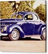 Nineteen Thirty Eight Ford Coupe Canvas Print