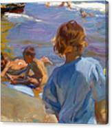 Ninos En La Playa. Valencia Canvas Print