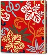 Nishike Brocade With Paulownia Arabesque Canvas Print