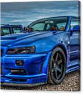 Nissan Skyline Gtr R-34 Canvas Print