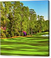 No. 10 Camellia 495 Yards Par 4 Canvas Print