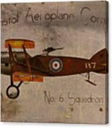 No. 6 Squadron Bristol Aeroplane Company Canvas Print