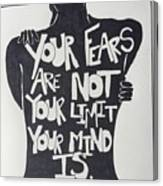 No Fears, No Limits Canvas Print