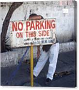 No Parking This Side 2 Canvas Print